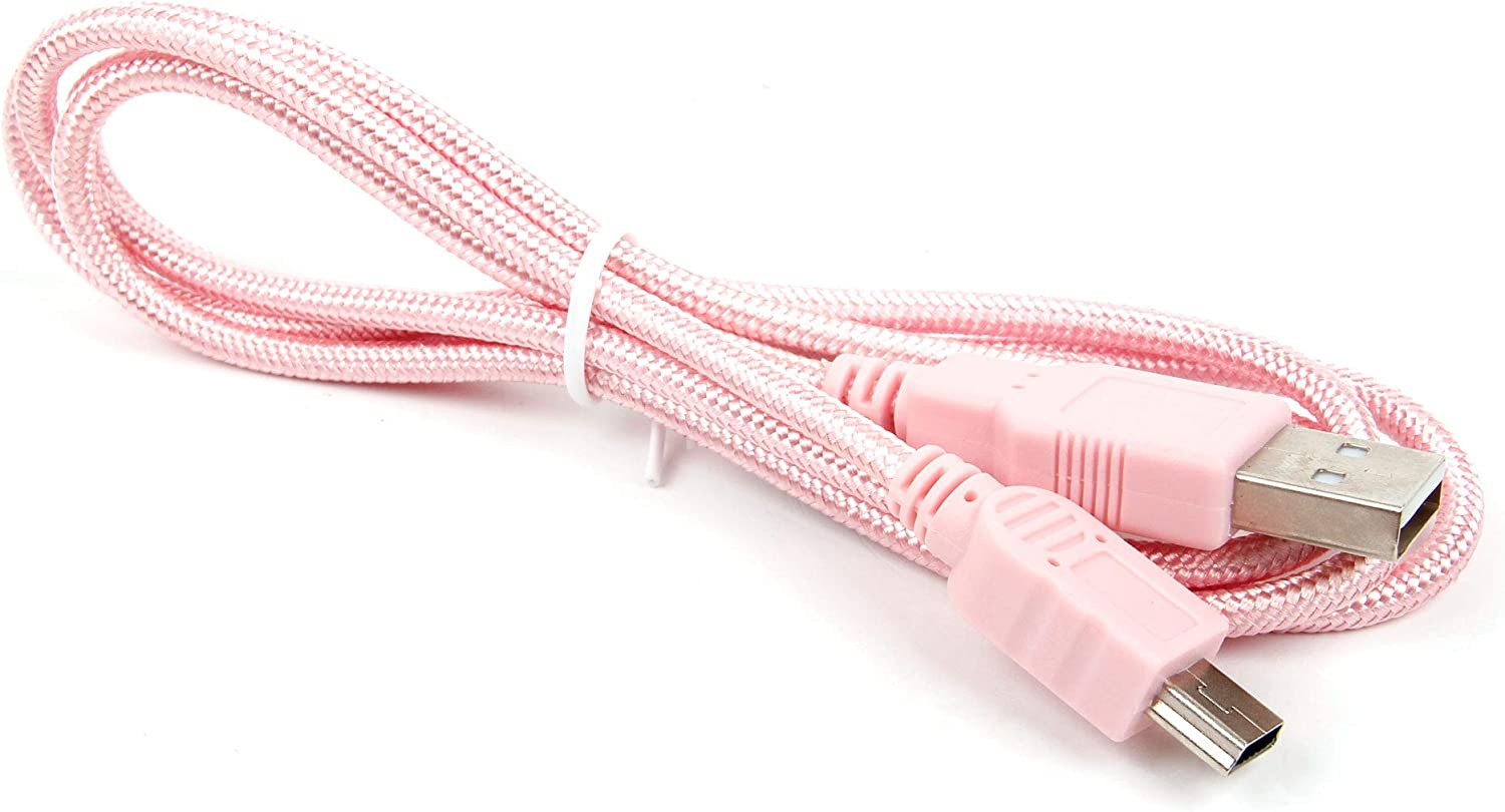 DURAGADGET Pink Mini USB Cable Suitable for Use with Apeman C470
