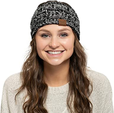 Hand Knitted WIDE WINTER HEADBAND with Arrows Hand Knit Winter Headband Ear Warmer with Options,