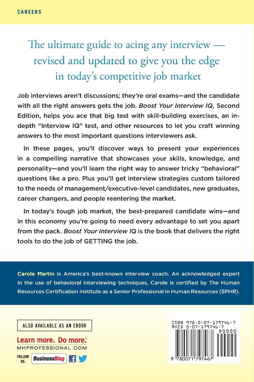 Boost Your Interview IQ 2/E: Carole Martin: 9780071797467: Amazon