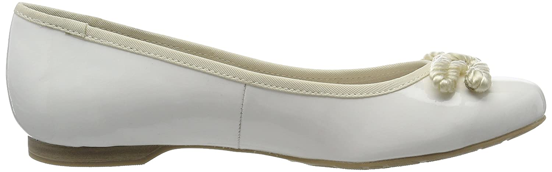 2-2-22109-28 538, Bailarinas Mujer, Blanco (White Patent 123), 38 EU Marco Tozzi