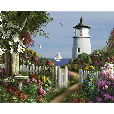 White Mountain Puzzles To The Lighthouse - 1000 Piece Jigsaw Puzzle: Toys & Games