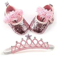 BENHERO Baby Infant Girls Soft Sole Floral Princess Mary Jane Shoes Prewalker. US