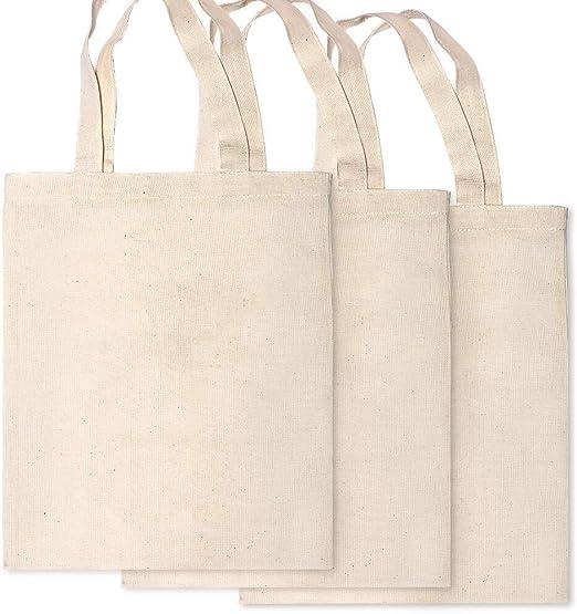 Bolsa de la compra de lona de algodón de 3 piezas con bolsa de ...