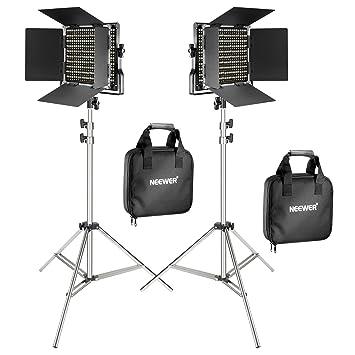 Flux 660 Monture U M Cri De 2 Neewer Pied Flash Studio Vidéo Pour 5600k Bicouleur Lampe 96Réglable 3200 Led Avec Coupe Lot Lumineux WxoBCred