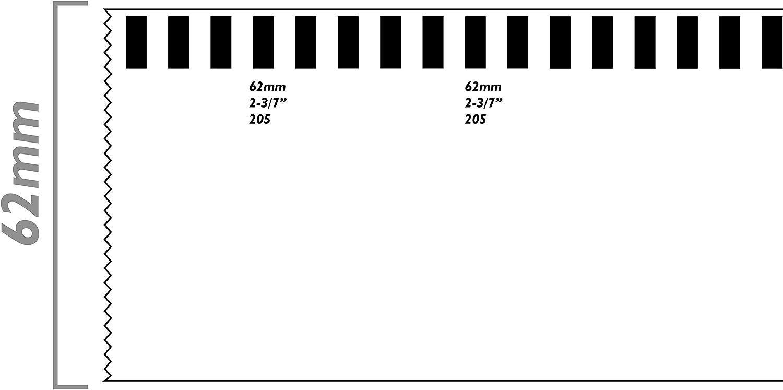 Rotolo di etichette continue adesive compatibili con Brother DK-22205 DK-2205 62mm 2 confezioni BeMatik KT030