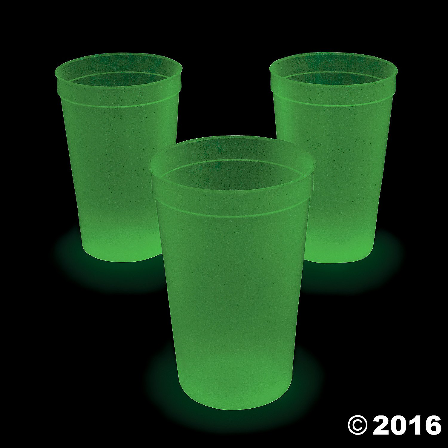 Extra Large Glow-in-the-Dark Plastic Tumblers