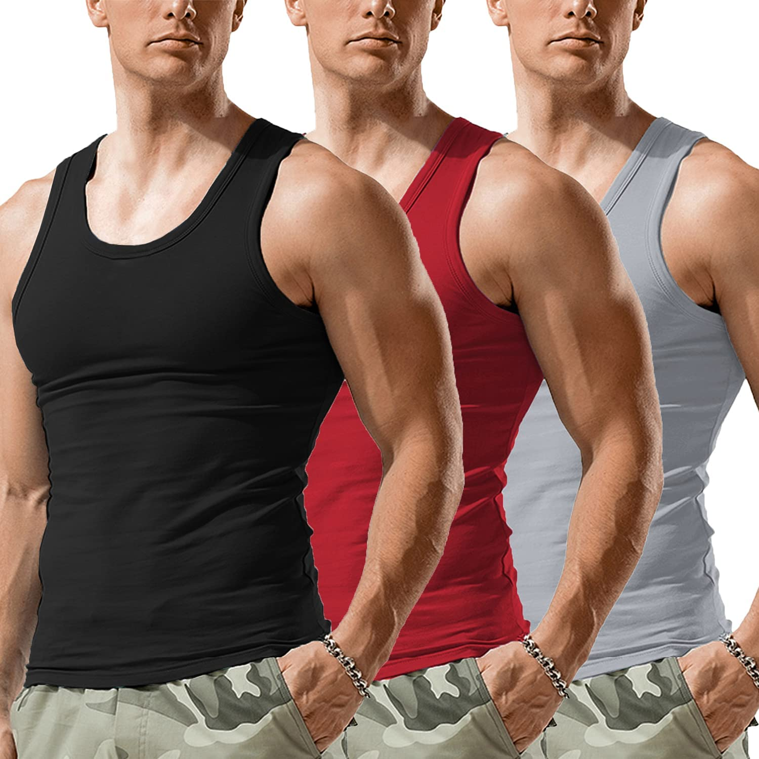 Mens Compression Vest Base Layer Comfy Tops Gym Sports Slim Fit Muscle Shirt Tee