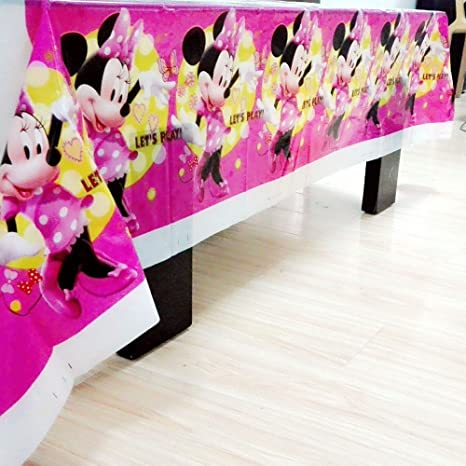 MY PARTY SUPPLIERS Minnie Mouse Table Cover. Premium Quality Minnie Mouse theme Table Cover Minnie Mouse Theme Cloth Amazon.in Toys \u0026 Games & MY PARTY SUPPLIERS Minnie Mouse Table Cover. Premium Quality Minnie ...