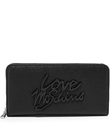 Love Moschino Mujeres monedero de cuero zip-around Negro ...