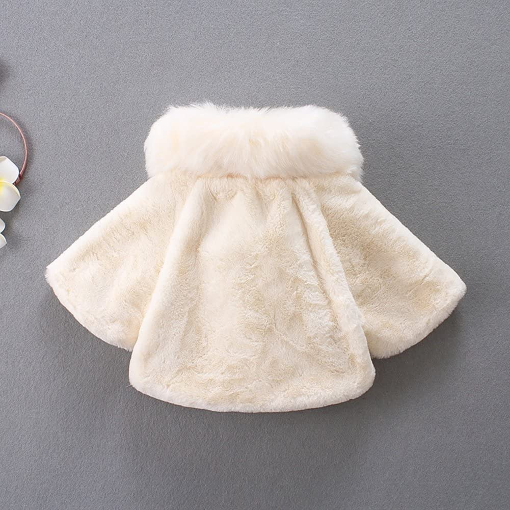 JIANLANPTT Toddler Baby Girls Winter Faux Fur Warm Outerwear Coat