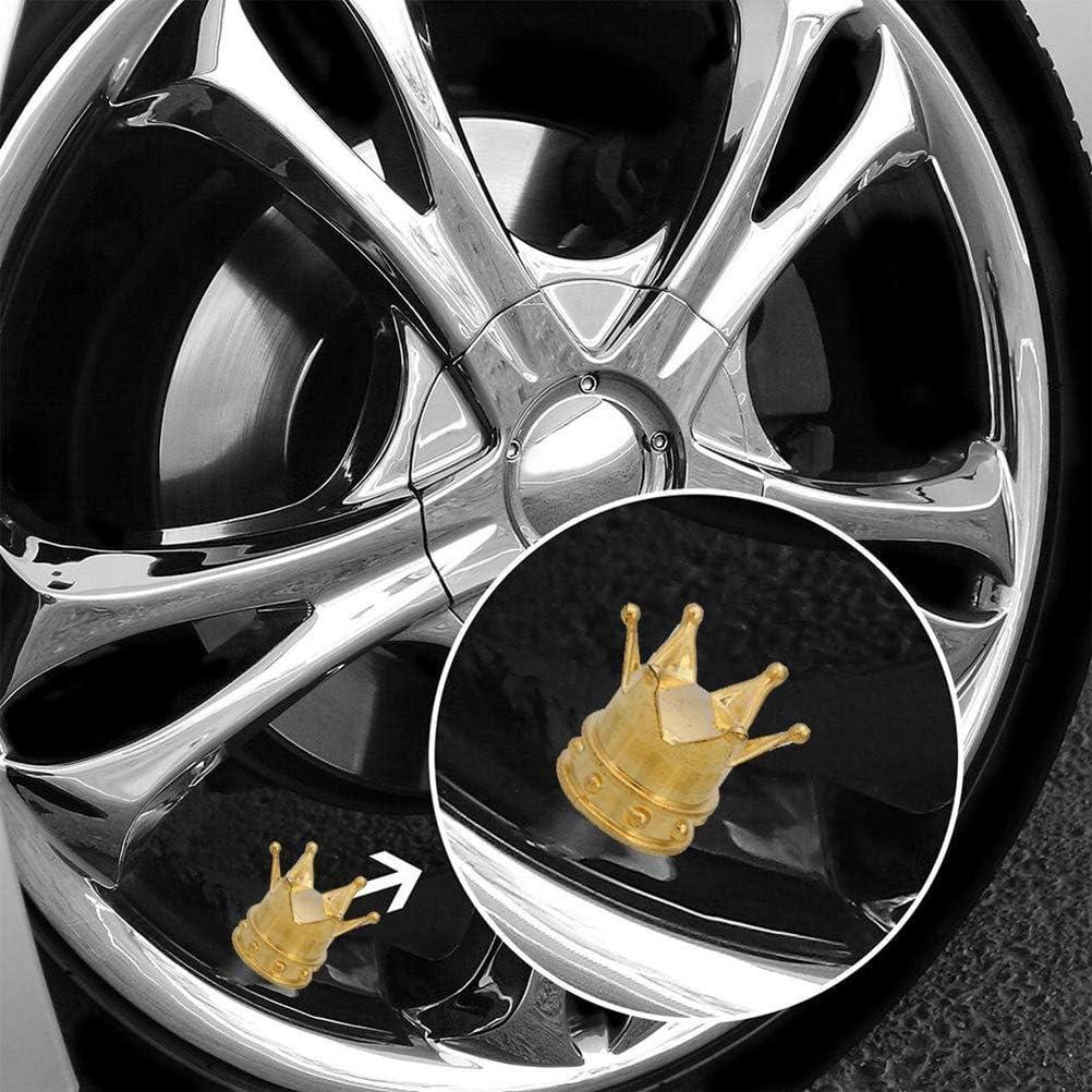 Gold 8 St/ück Universal Auto LKW Luftventilkappen Fahrrad Reifen Krone Reifen Reifen Ventil Vorbau Staubkappe Abdeckung Felge Auto Teile