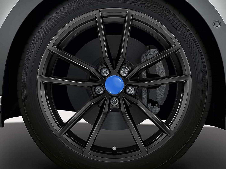 6U7 601 171 Hubcaps Blue Silver Black 65mm CV 6 SkinoEu 4 x Universal Wheel Centre Alloy Hub Center Caps Compatible with VW//SKODA Part Number 3B7601171