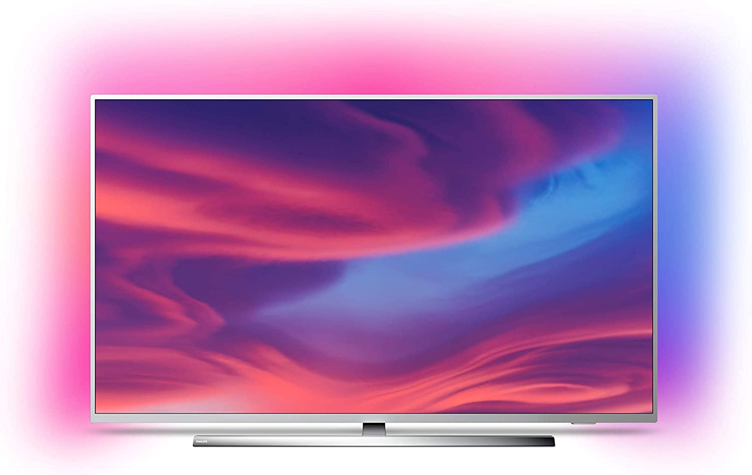 Philips Ambilight 65PUS7354 - Televisor Smart TV 4K UHD, 65 pulgadas, HDR10+, Android TV, Google Assistant y compatible Alexa, Dolby Vision/Atmos, peana central aluminio giratoria, color gris: Philips: Amazon.es: Electrónica