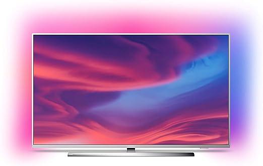 Philips Ambilight 65PUS7354 - Televisor Smart TV 4K UHD, 65 pulgadas, HDR10+, Android TV, Google Assistant y compatible Alexa, Dolby Vision/Atmos, peana central aluminio giratoria, color gris: Philips: Amazon.es: Electrónica