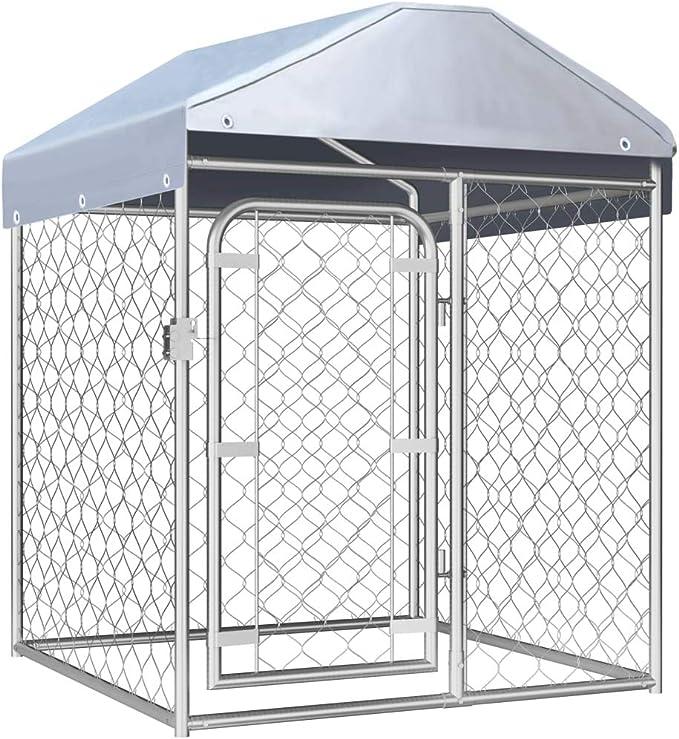 vidaXL Perrera de Exterior con Techo Jaula Perros Mascotas Animales 100x100cm: Amazon.es: Productos para mascotas