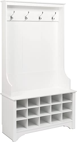 Prepac Shoe Storage Hall Tree, White