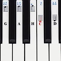 Klavier Aufkleber für 49 / 61 / 76 / 88 Key Keyboards – Transparent und abnehmbar mit Klavier EBook kostenlos