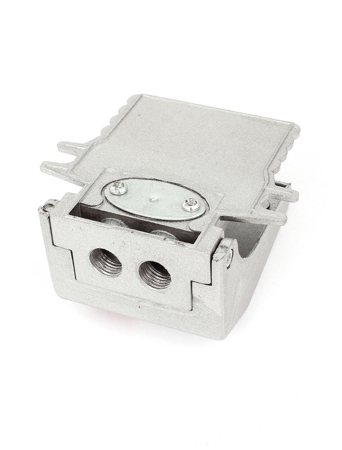 FV-02 Legierung 1//4BSP Gewinde Luft  Pneumatik Pedal Ventil Fußschalter Silber