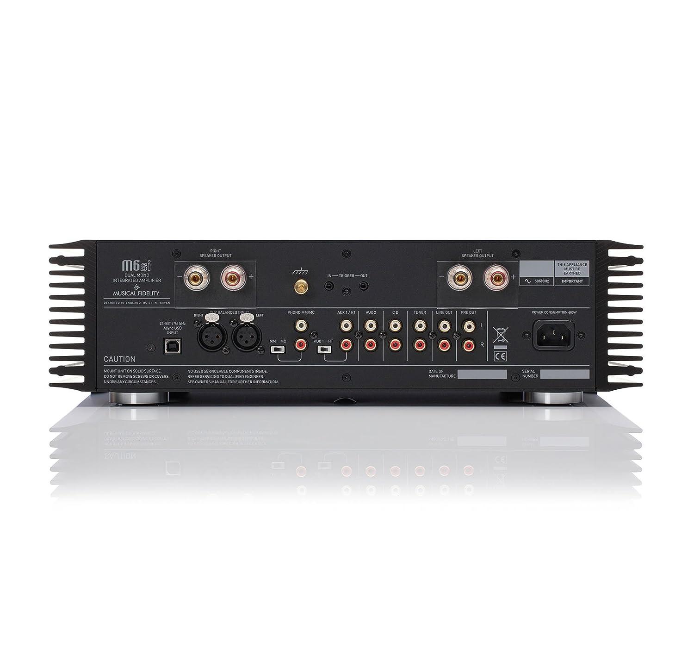 Musical Fidelity M6Si, negro - amplificador con Phono MM/MC y-entrada: Amazon.es: Electrónica