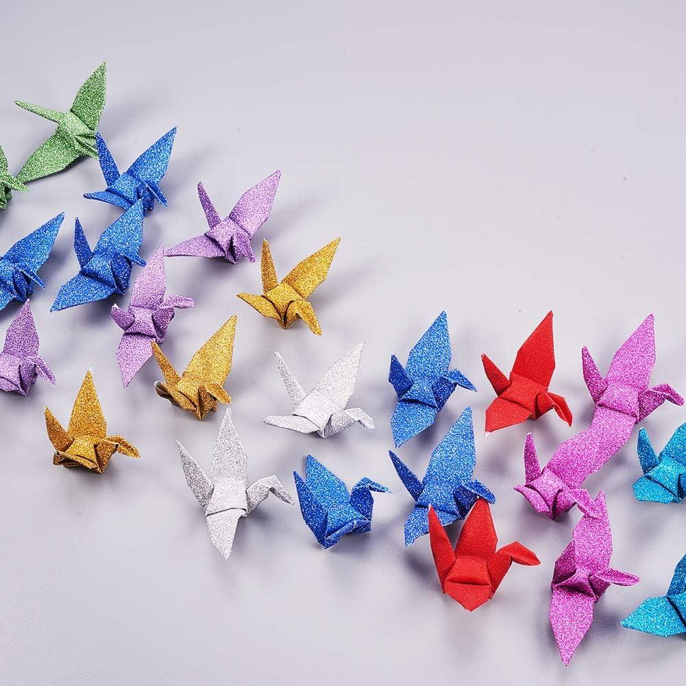 50 pezzi fatti a mano piegati per origami decorazioni per la casa ghirlande di carta per feste nuziali WANDIC Gru di carta per origami colori misti 100 pezzi di colore bianco.