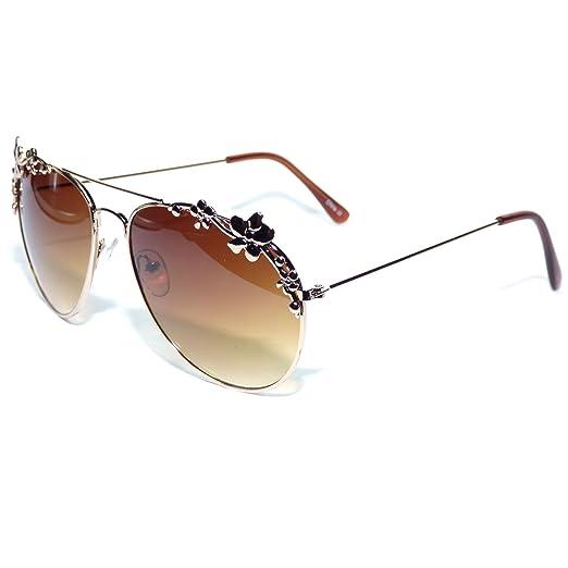 Amazon.com   GB36-S2 Golden Bridge Eyewear ® Floral Women s Aviator ... 4568a293de3b