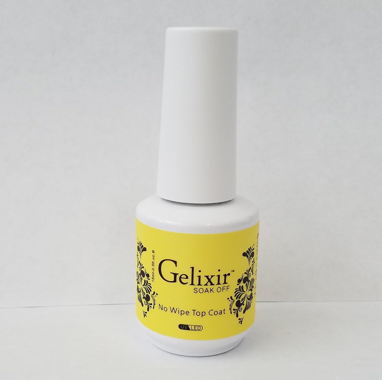 GELIXIR - Soak Off Gel No-wipe Top Coat - .5 Oz / 15 mL : Beauty