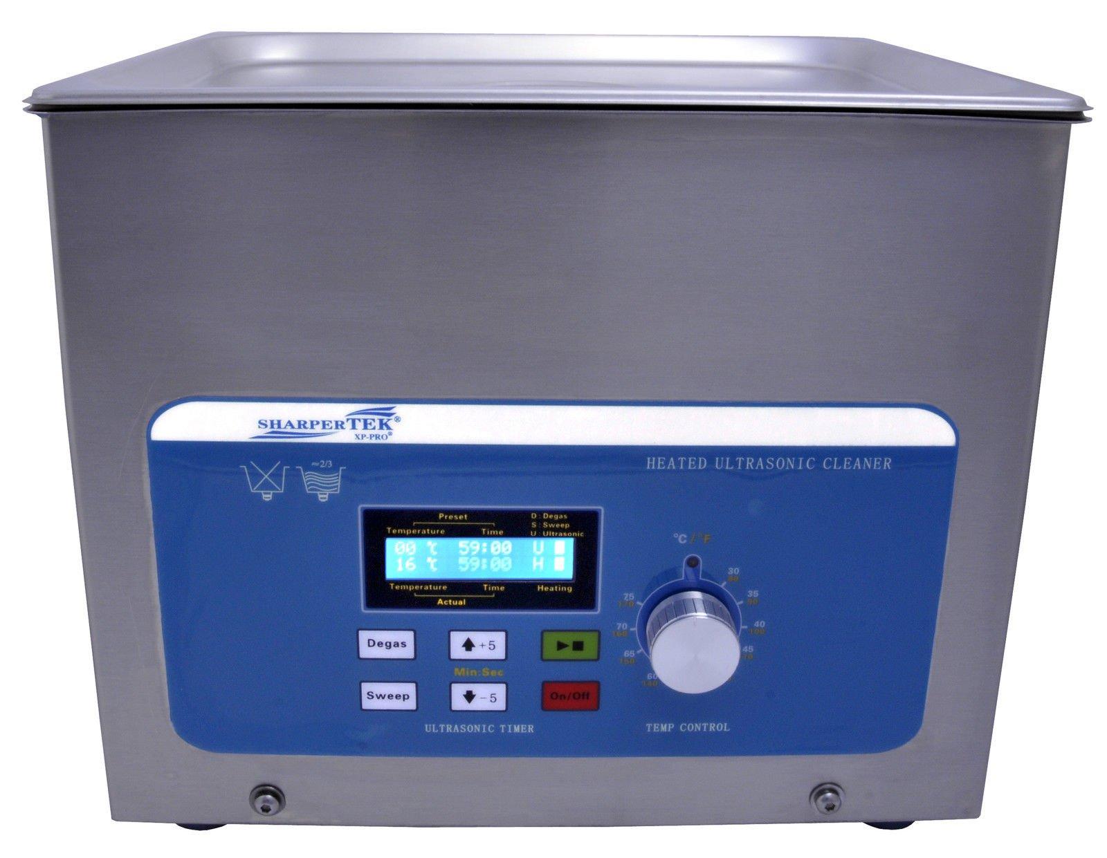 SHARPTERTEK Ultrasonic Cleaner Xps360-8L 2.2 Gal. Tank Dimesions 11.75''×9.5''×4''