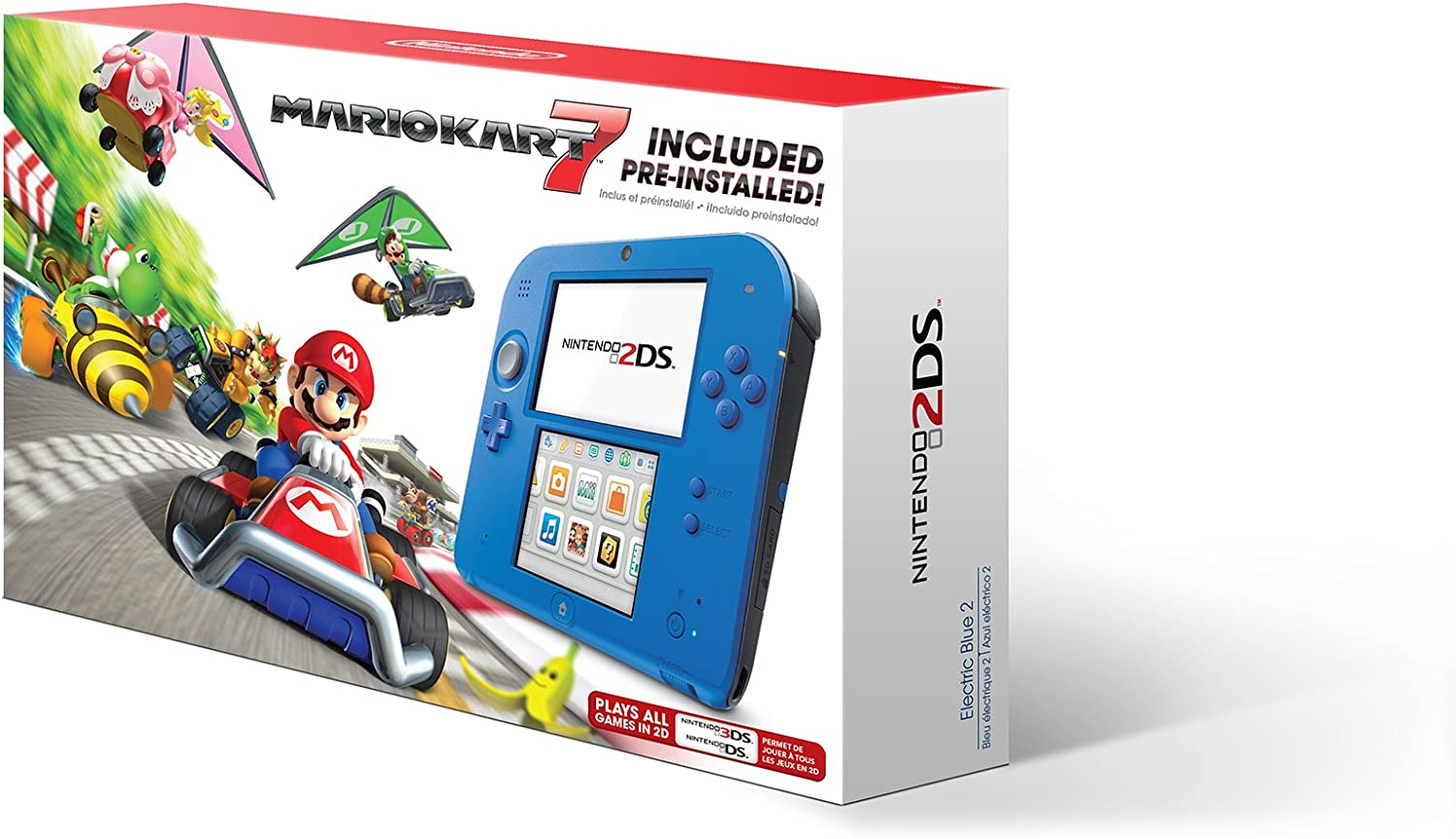 Amazon.com: Nintendo 2DS - Electric Blue with Mario Kart 7: Video Games