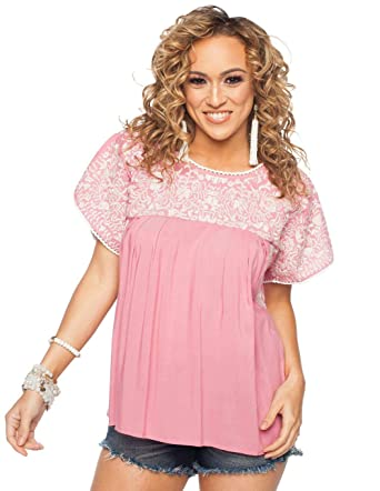bfd9f5e59be4b8 BuddyLove Women s Greek Top- Mauve Blouse at Amazon Women s Clothing store