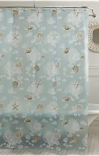 lorraine home fashions sea foam shells shower curtain 70inch by 72inch