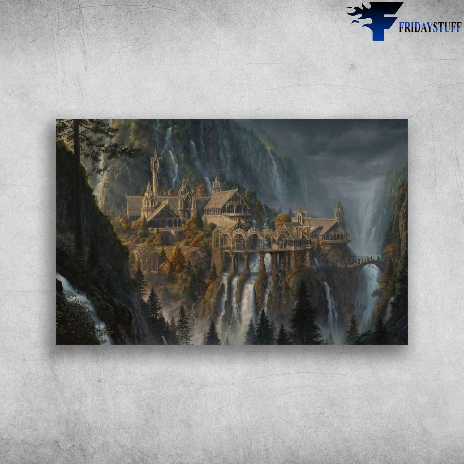 Birthday Gifts Decorative Wall Murals Lifestyle Charming Scenery Lord of The Rings Rivendell Family Friend Gift Unisex, Awesome Decor Bedroom, Living Room Print
