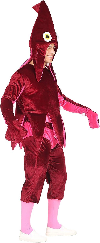 WIDMANN 02603 adultos Disfraz Calamar, unisex ? Adultos, vino rojo ...