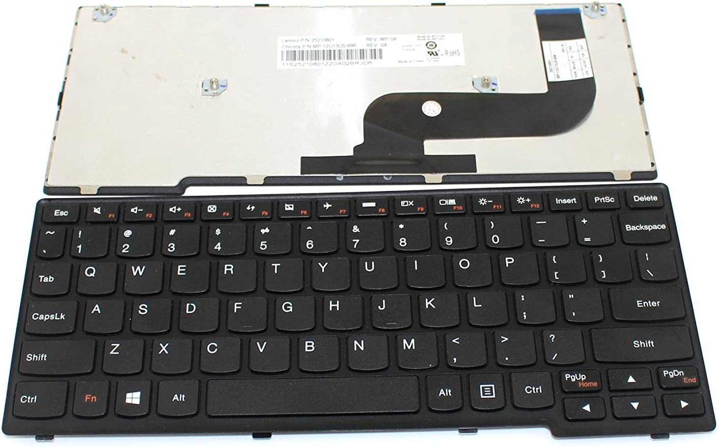 New Laptop Keyboard Replacement for IBM Lenovo Ideapad Yoga 11S Yoga11S Yoga11S-ITH Yoga11S-IFI P/N:25210861, 11S25210831 US US Black Color