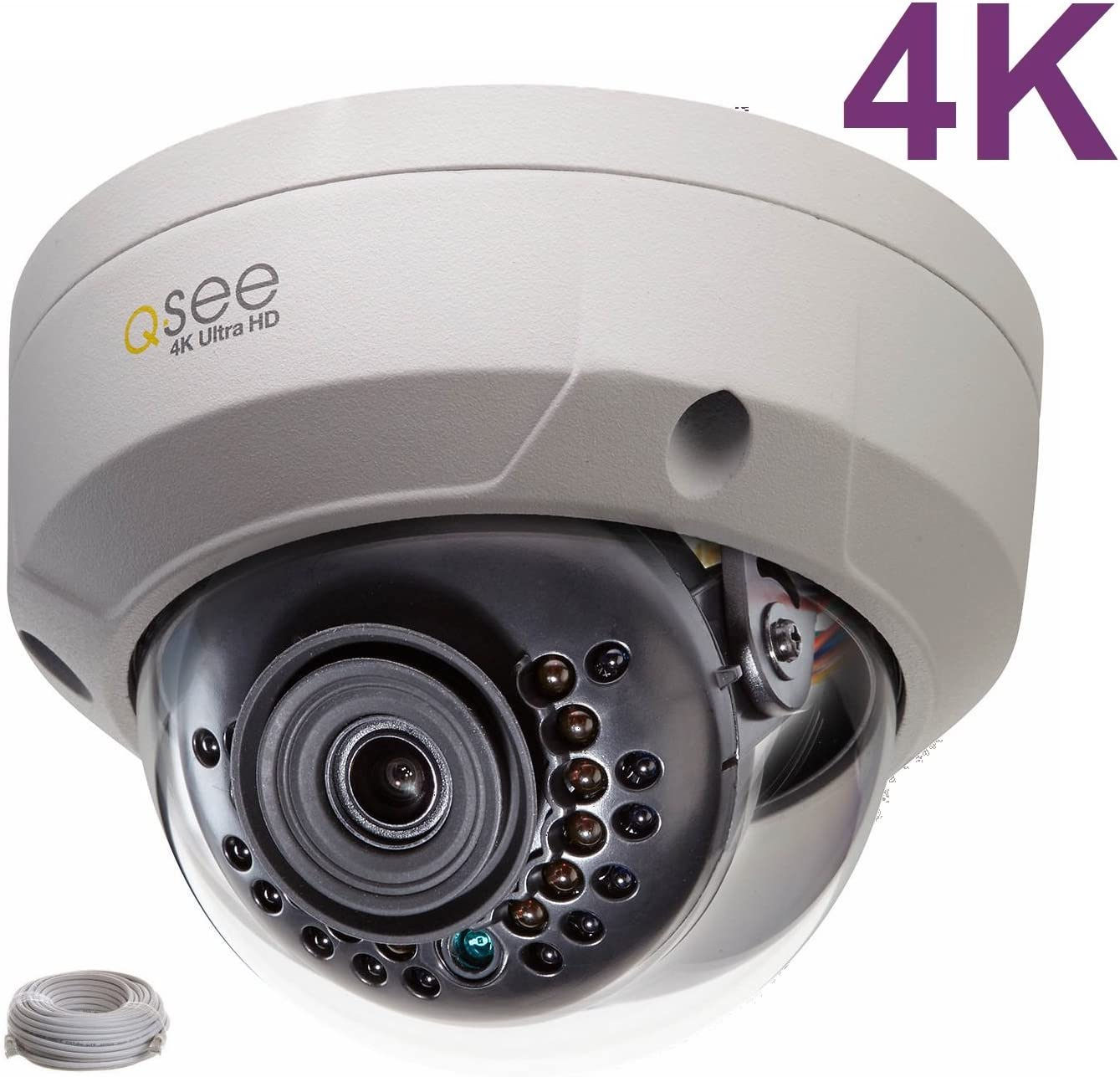 Q-See 4K 8MP HD QC IP Series Dome Security Camera with Night Vision and H.265+ (QCN8096D)