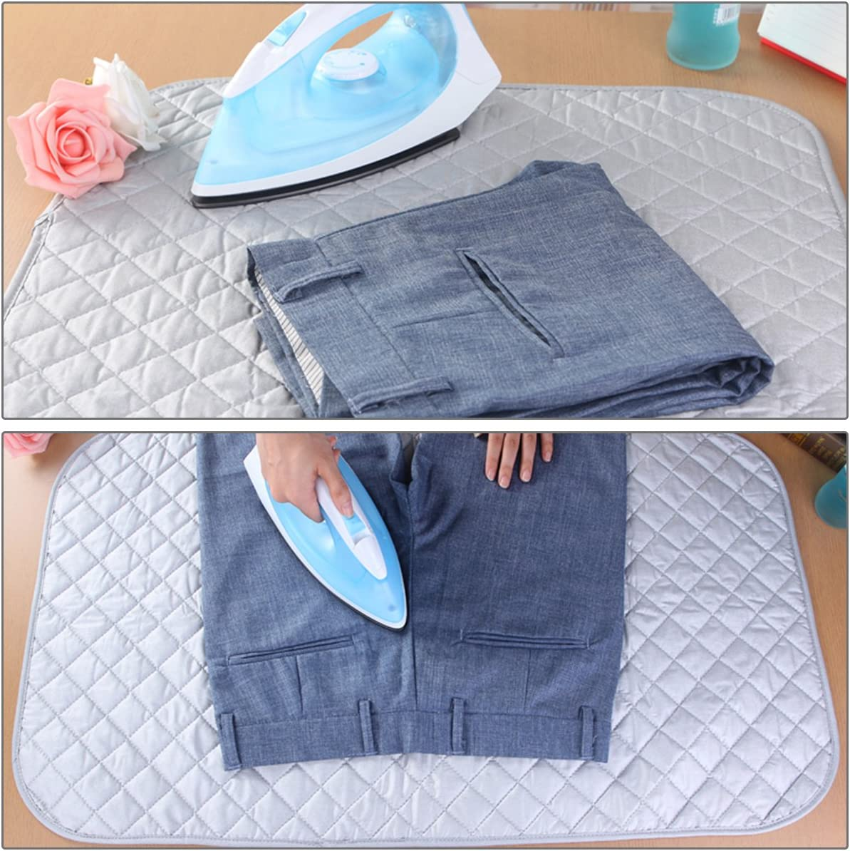 Kitchnexus Portable Ironing Blanket Heat Resistant Safe Iron Laundry Pad tappetino per Lavasciuga 48/x 85/cm//55/x 65/cm//70/x 100/cm 70*100cm Cotone