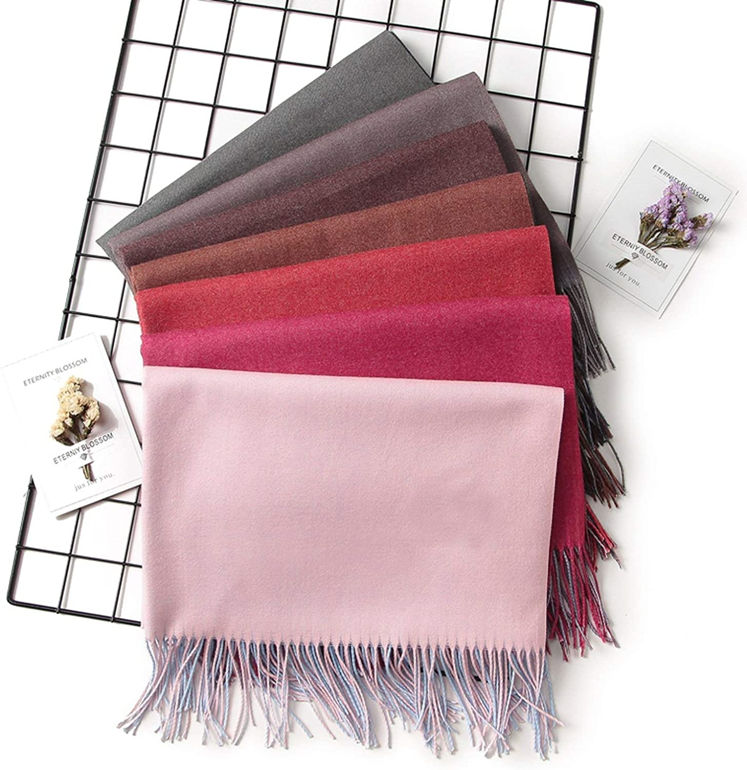 2019 Winter Women Scarf Fashion Solid Soft Cashmere Scarves for Lady Pashmina Shawls Wrap,c16,Russian Federation