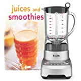 Breville Silver Hemisphere Smooth Contoured 48 Ounce Blender with Bonus Tuttle Juices and Smoothies Cookbook