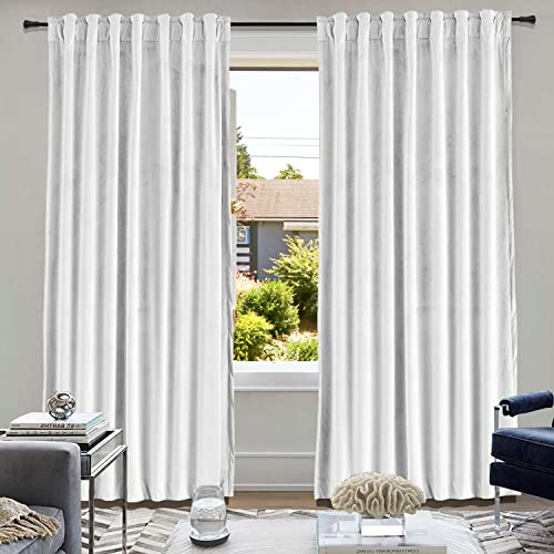 cololeaf Extra Wide Curtains Super Soft Luxury Velvet Curtains Energy Efficient Curtain Panel Drapes
