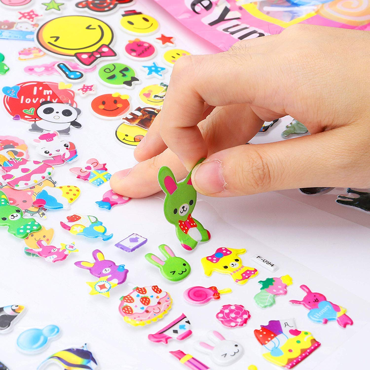 WENTS Stickers for Kids 600 3D Puffy Stickers Pack Scrapbooking Bullet Journals Cute Doll Clothes Accessories Stickers 40 Sheets Birthday Present Gift for Girl Boy