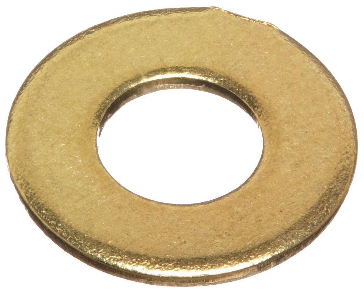 Brass Flat Washer, Plain Finish, 1/4\