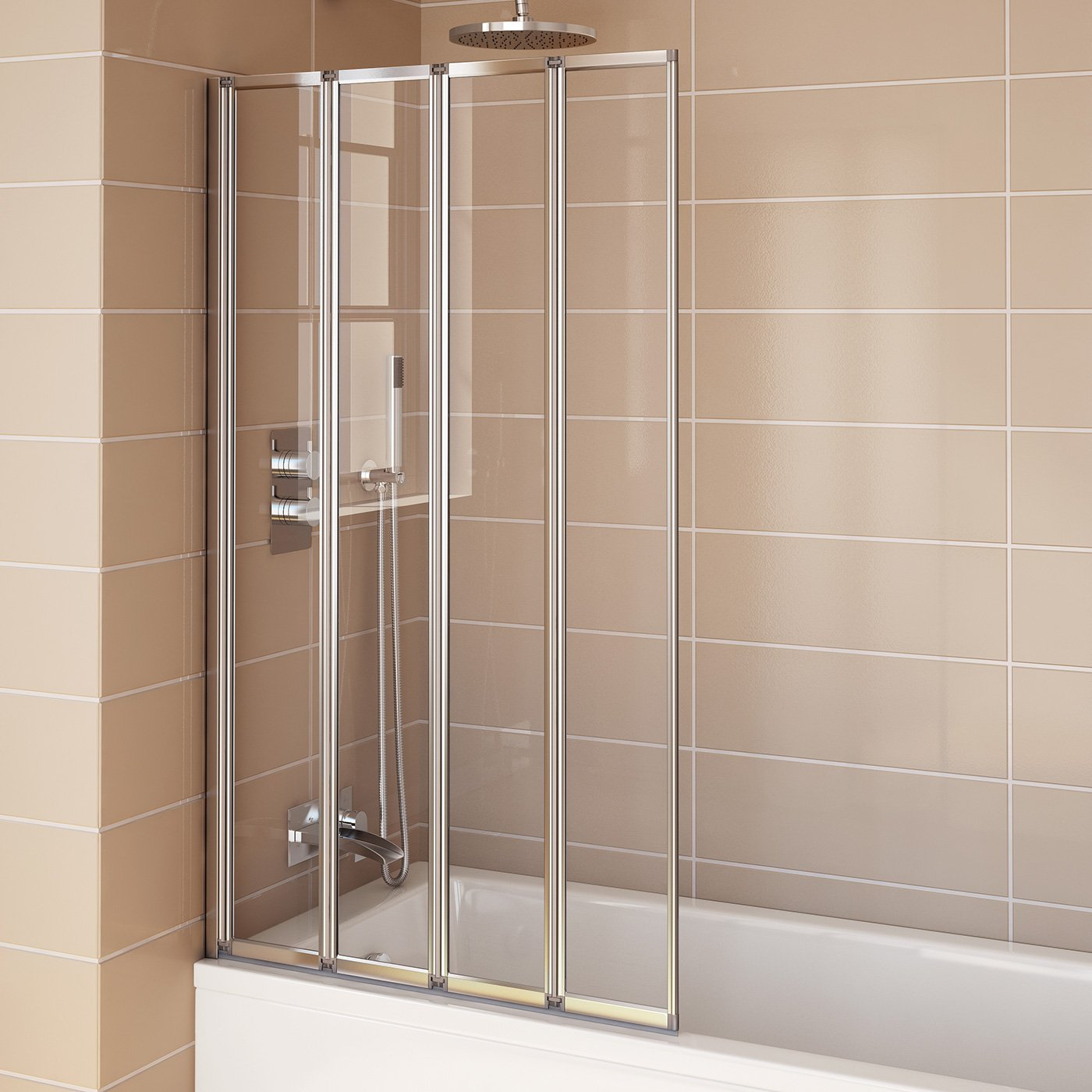800mm Modern Pivot Folding Bath Shower Glass Screen Reversible Door Panel iBathUK Amazon.co.uk DIY u0026 Tools : bath door - pezcame.com