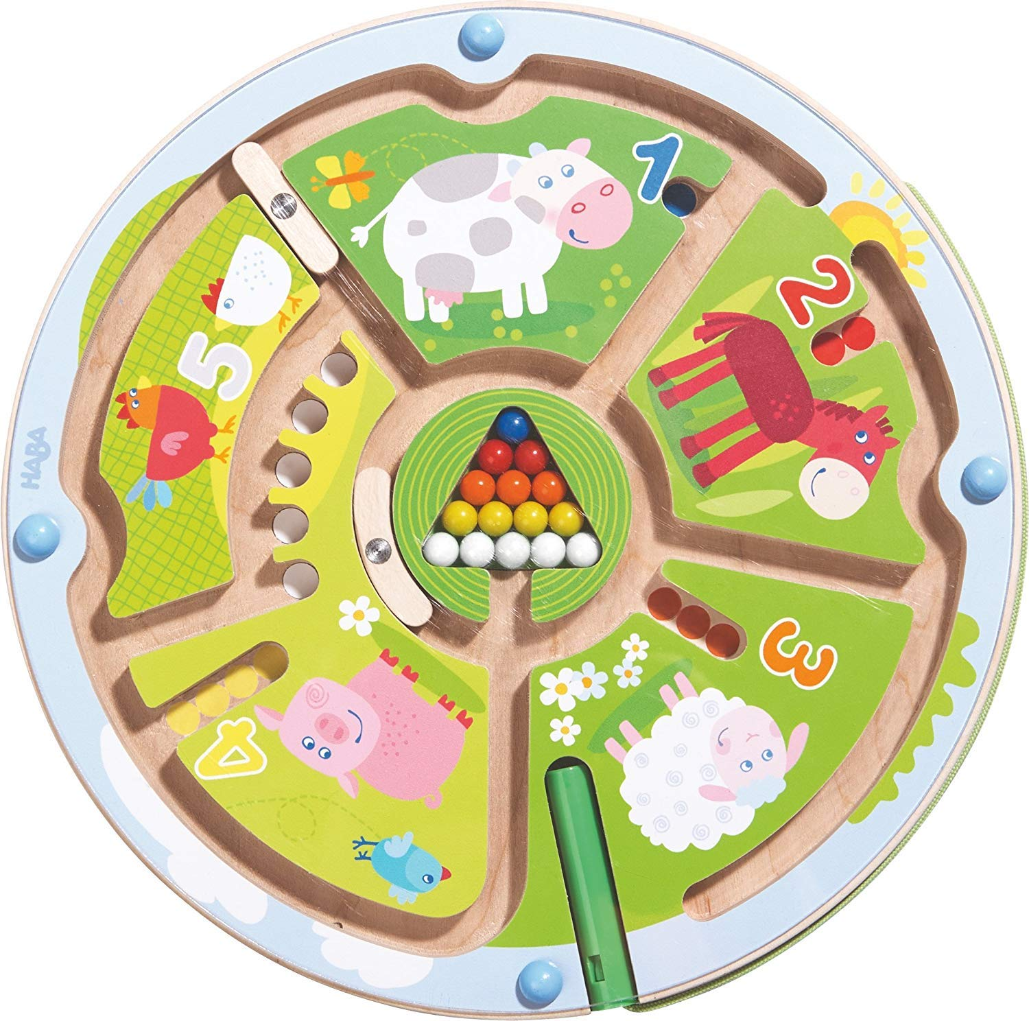 HABA Number Maze Magnetic Game STEM Toy Encourages Color Recognition, Fine Motor & Counting by HABA