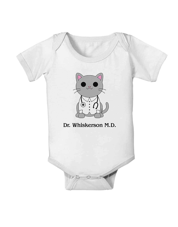 Cute Cat Design Baby Romper Bodysuit TooLoud Dr Whiskerson MD