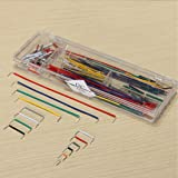 Jekewin 140pcs Solderless Breadboard Jumper Cable Wire Kit U Shape for Arduino Shield