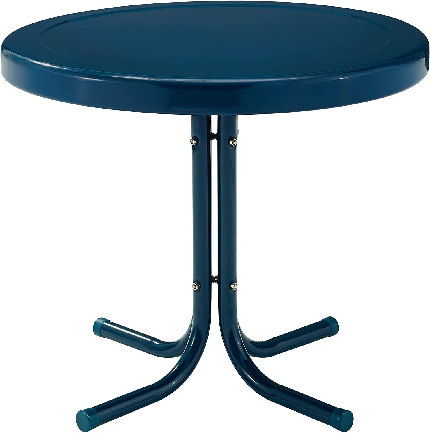 Crosley Furniture CO1011A-NV Griffith Retro Metal Outdoor Side Table, Navy