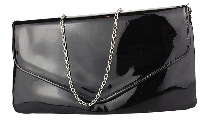 adba05bedf88a 2Store24 Envelope Clutch Lack Damen Handtasche Abendtasche in schwarz weiß  rot uvm  Amazon.de  Bekleidung