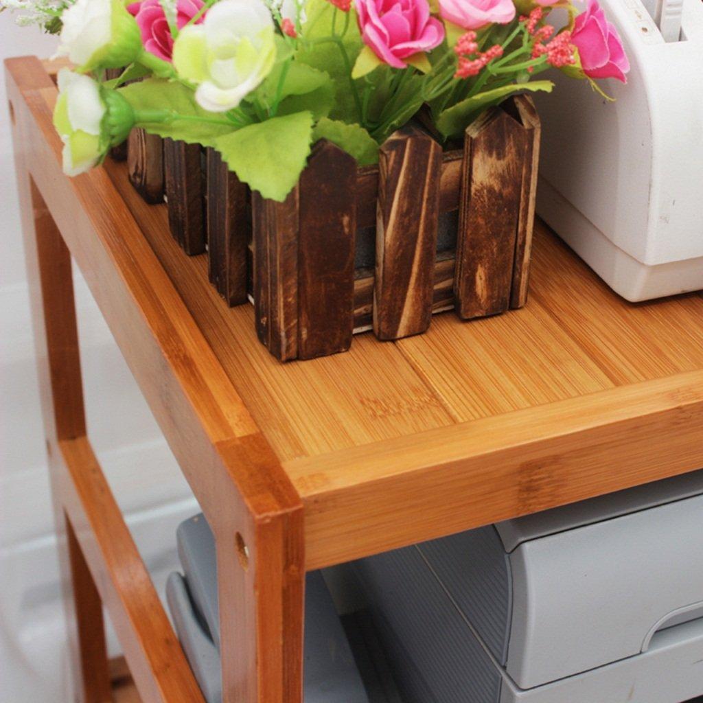 Kapazit/ät : 50 * 30 * 42cm Aufbewahren /& Ordnen BOBE Shop- Desktop Mehrzweck-Lagerregal B/üro Haushalt Lagerregal Drucker Rack Scanner Rack Bambus-Lagerregal