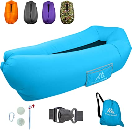 Beach Air Lounger Couch Ideal Gift for Travelling Pouch Couch Portable Hammock Lazy Air Bag Sofa Camping Picnics Inflatable Lounger Pool Float /& Festival