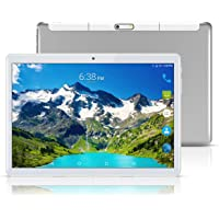 """Android 8.1 Tablet 10 Inch (10.1""""),Octa Core,3G 4G Dual SIM Phablet Tablets PC,Dual Camera,4GB Ram+64GB Disk,WiFi,GPS,OTG (Silver)"""