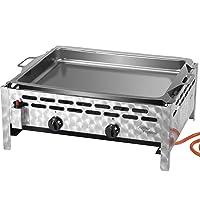 Tischbräter Activa silber klein Tableroaster 2-flammig ✔ eckig ✔ Grillen mit Gas